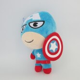 На картинке игрушки Марвел «Капитан Америка», вид спереди, 22 см.