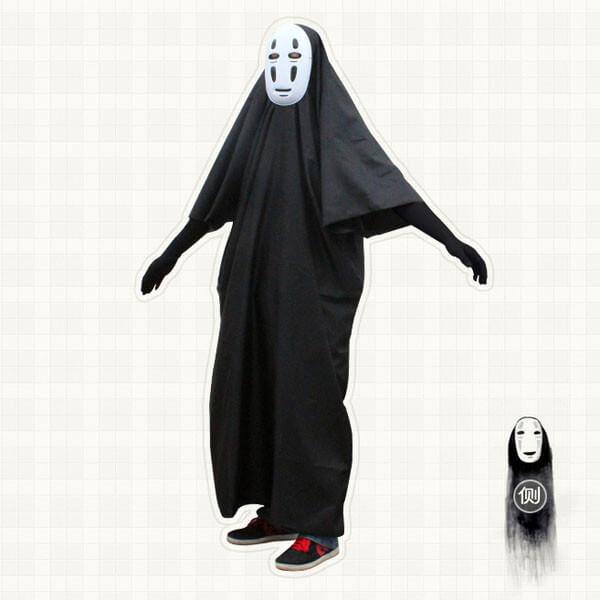 На картинке косплей костюм Безликого (Унесенные призраками), общий вид.