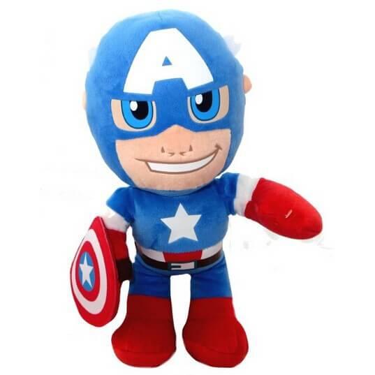 На картинке игрушки Марвел «Капитан Америка», вид спереди, 30 см.