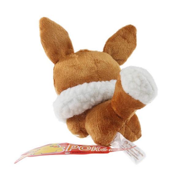 На картинке мягкая игрушка покемон Иви (Eevee) 3 варианта, вид сзади, вариант 12 см.