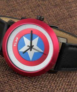 На картинке наручные часы «Капитан Америка» (премиум), общий вид.