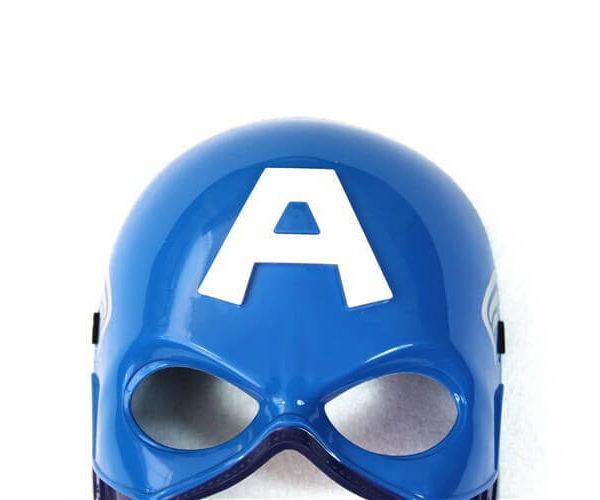 На картинке маска Капитана Америки (Мстители), вид спереди.