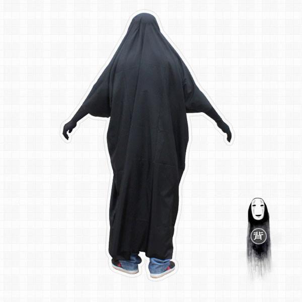 На картинке косплей костюм Безликого (Унесенные призраками), вид сзади.