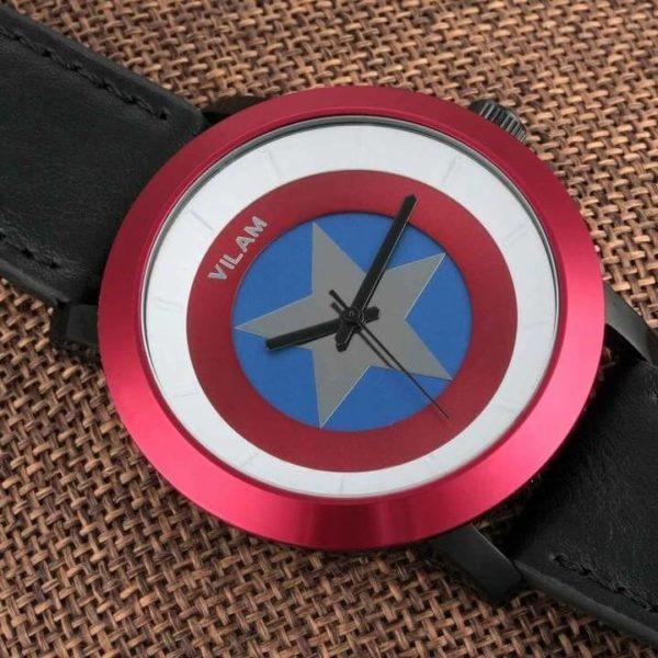 На картинке наручные часы «Капитан Америка» (премиум), детали.