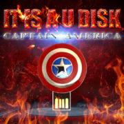 Флешка «Щит Капитана Америки» фото