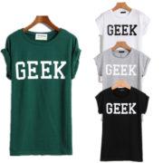 Футболки с надписью «geek» (гик) 4 цвета фото