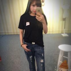На картинке футболка кот с факом в кармане (2 цвета), вид спереди, цвет черный.