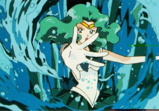 На картинке фигурка Сейлор Нептун (Сейлормун), кадр из аниме.