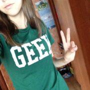 Футболки с надписью «geek» (гик) зеленая фото
