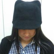 Фетровая кепка с ушками кошки (4 цвета) фото