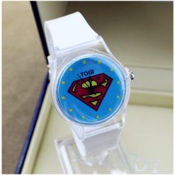 На картинке наручные часы «Супермен» (Superman), вариант Белые.