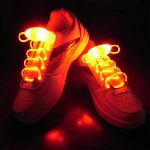 На картинке светящиеся led шнурки (4 варианта), красные.