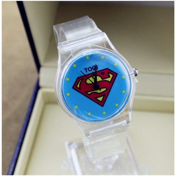 На картинке наручные часы «Супермен» (Superman), вариант Прозрачные.