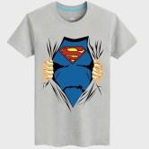 На картинке футболка «Рубашка Супермена» (Superman), вид спереди, цвет серый.