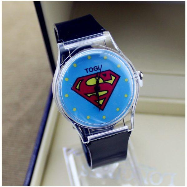 На картинке наручные часы «Супермен» (Superman), вариант Черные.