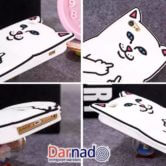 Чехол кот показывает фак на айфон 4S-5-5S-6-6+, детали