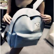 На картинке рюкзак с котом, который показывает факью (4 цвета), голубой.