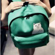 Рюкзак с котом, который показывает факью (4 цвета) фото