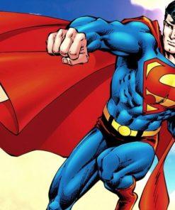 На картинке мягкая игрушка «Супермен» (Superman), кадр из комикса.