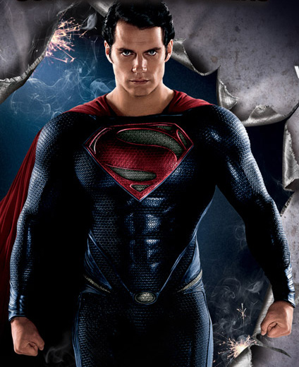 На картинке футболка с эмблемой Супермена (Superman) 4 варианта, кадр из фильма.
