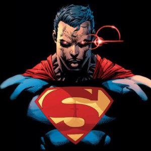 На картинке пижама кигуруми «Супермен» (Superman), кадр из комикса.