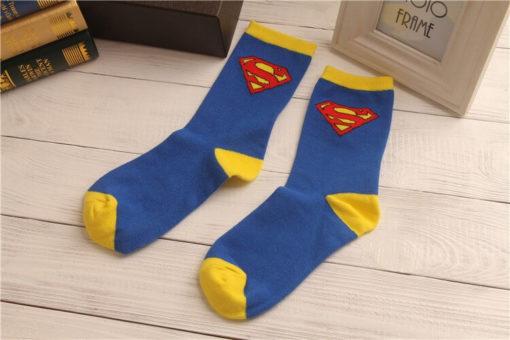 На картинке носки «Супермен» (Superman), общий вид.