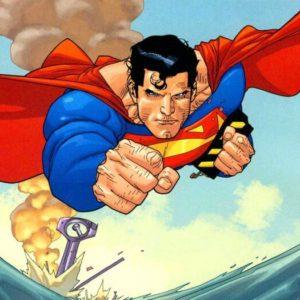 На картинке чехол «Супермен» на Samsung Galaxy S3-S4-S5-S6 (Superman), кадр из комикса.