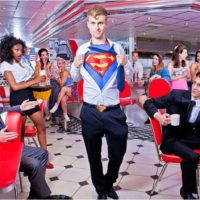 Мужской кожаный ремень «Супермен» (Superman) 4 варианта фото