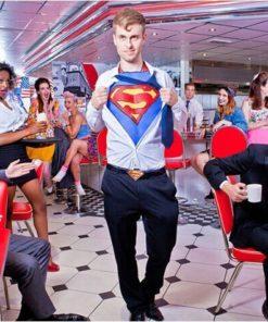 На картинке мужской кожаный ремень «Супермен» (Superman) 4 варианта.