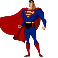На картинке мужские трусы «Супермен» (Superman), кадр из мультсериала.