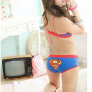 Комплект нижнего белья бюстгальтер и трусики «Супермен» (Superman) 3 варианта фото