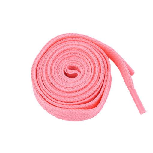 На картинке светящиеся в темноте шнурки (5 вариантов), розовые.