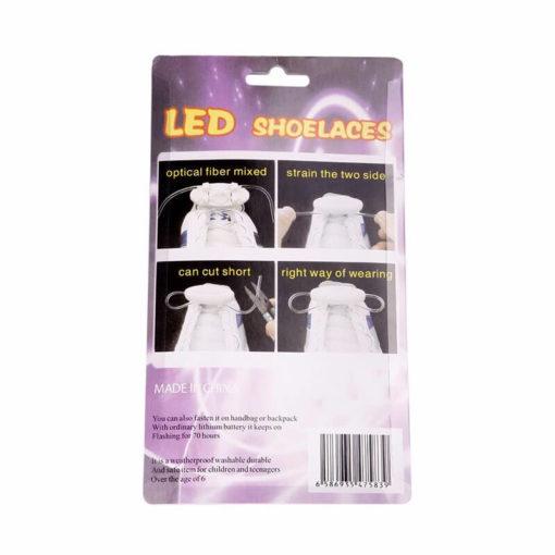 На картинке светящиеся led шнурки (4 варианта), упаковка.