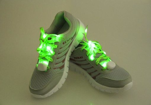 На картинке шнурки, которые светятся в темноте (6 цветов), зеленые.