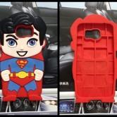 На картинке чехол «Супермен» на Samsung Galaxy S3-S4-S5-S6 (Superman), вид спереди и сзади.