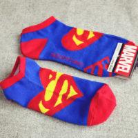 На картинке носки «Супермен» (Superman) женские, общий вид.