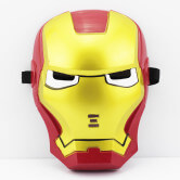 На картинке маски «Мстители» (Марвел \ Marvel) 5 вариантов, вид спереди, вариант Железный Человек.