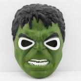 На картинке маски «Мстители» (Марвел \ Marvel) 5 вариантов, вид спереди, вариант Халк.