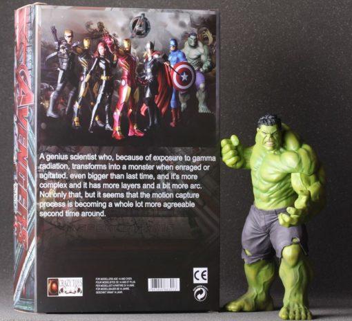 На картинке фигурка Халка из Мстителей (Hulk \ Avengers \ Marvel), вид спереди.