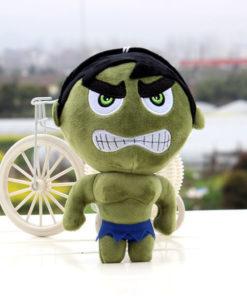 На картинке мягкая игрушка Халк (Hulk \ Avengers \ Marvel), вид спереди.
