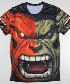 На картинке футболка Халк Марвел (Hulk \ Avengers \ Marvel), вид спереди.