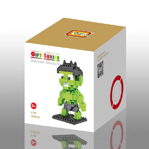На картинке игрушка-конструктор Халк (Hulk \ Avengers \ Marvel), упаковка.