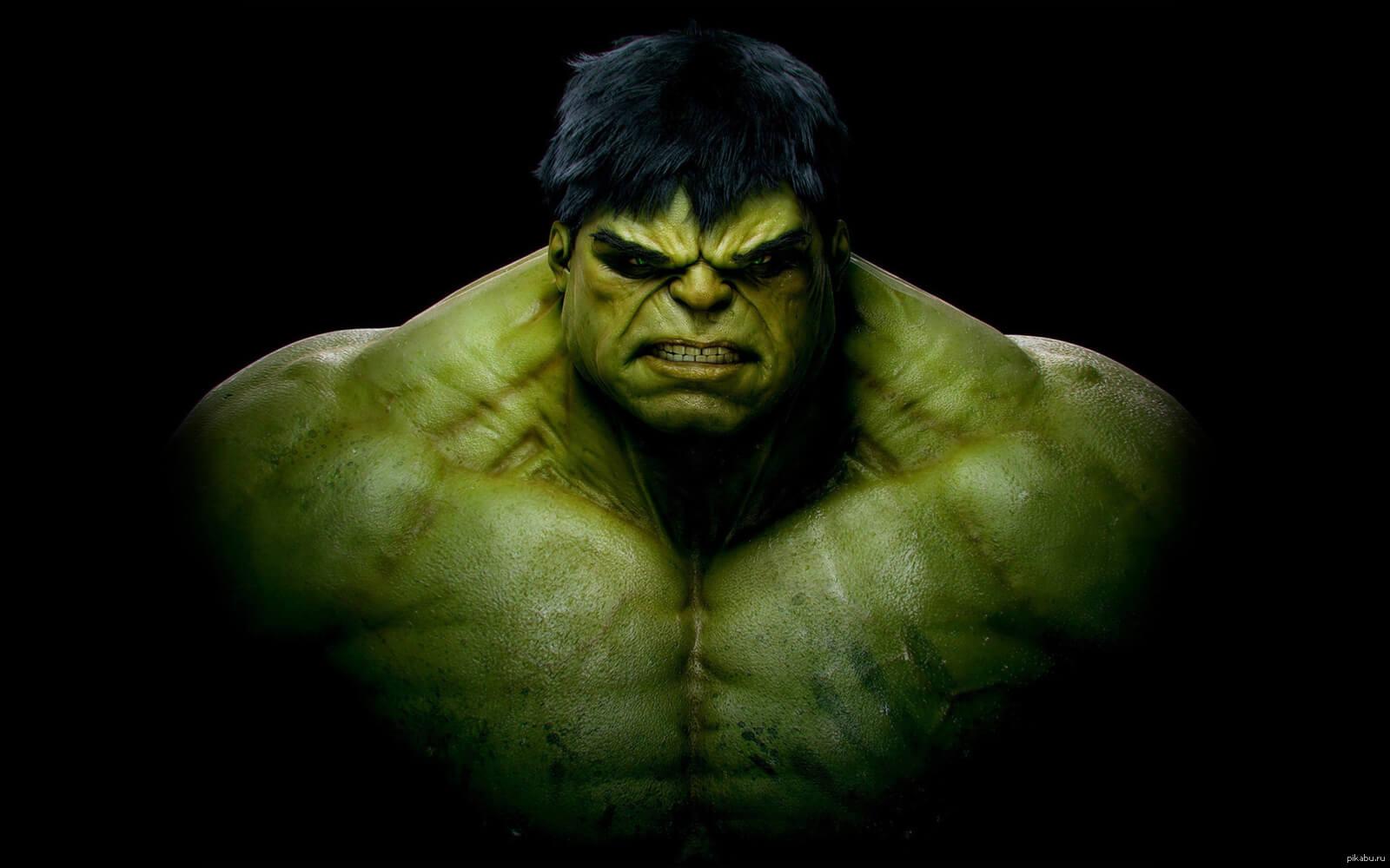 На картинке мягкая игрушка Халк (Hulk \ Avengers \ Marvel), кадр из фильма.