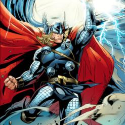 На картинке мягкая игрушка Тор из Мстителей (Марвел), кадр из комикса.
