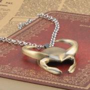 Кулон-ожерелье в виде шлема Локи (Тор) фото