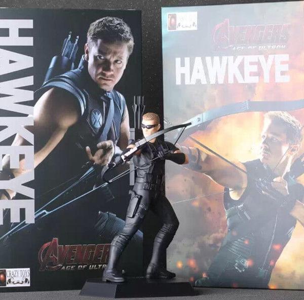 На картинке фигурка Соколиный Глаз Мстители (Марвел \ Marvel), общий вид.