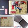 На картинке кошелек с богом Тором от Марвел, вид с разных сторон.
