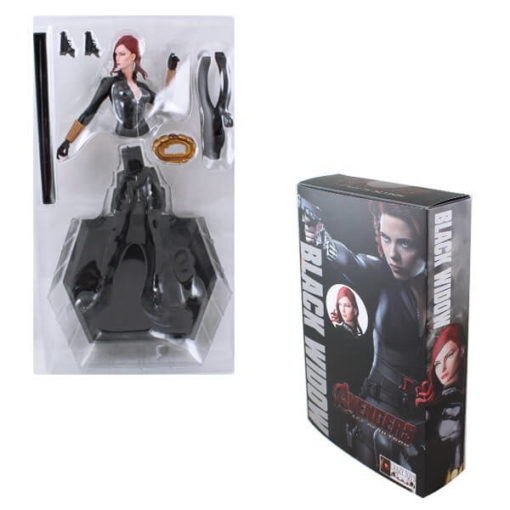 На картинке фигурка Черная Вдова Мстители (Марвел \ Marvel), в упаковке.