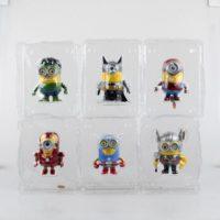 На картинке фигурки Миньонов-Мстителей (Марвел \ Marvel), в упаковках.