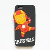 """На картинке чехол """"Мстители"""" на айфон 5-5S-6 (Марвел \ Marvel), вид спереди, вариант Железный Человек."""